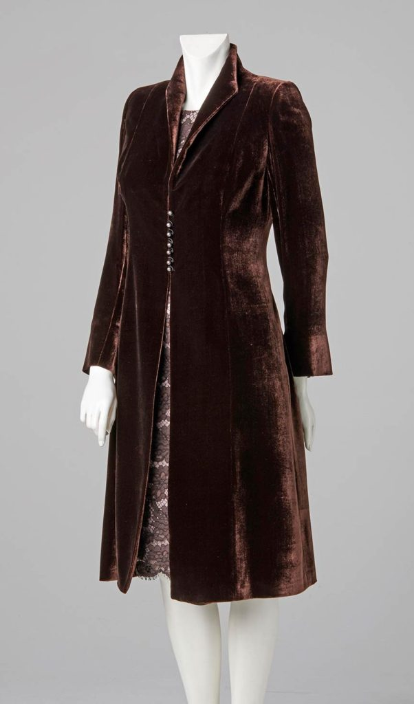 couture design made to measure ladies silk velvet coat