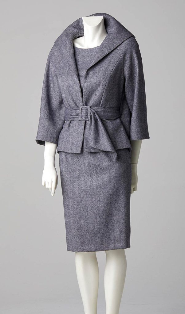 made to measure swing back jacket shift dress herringbone cashmere wool