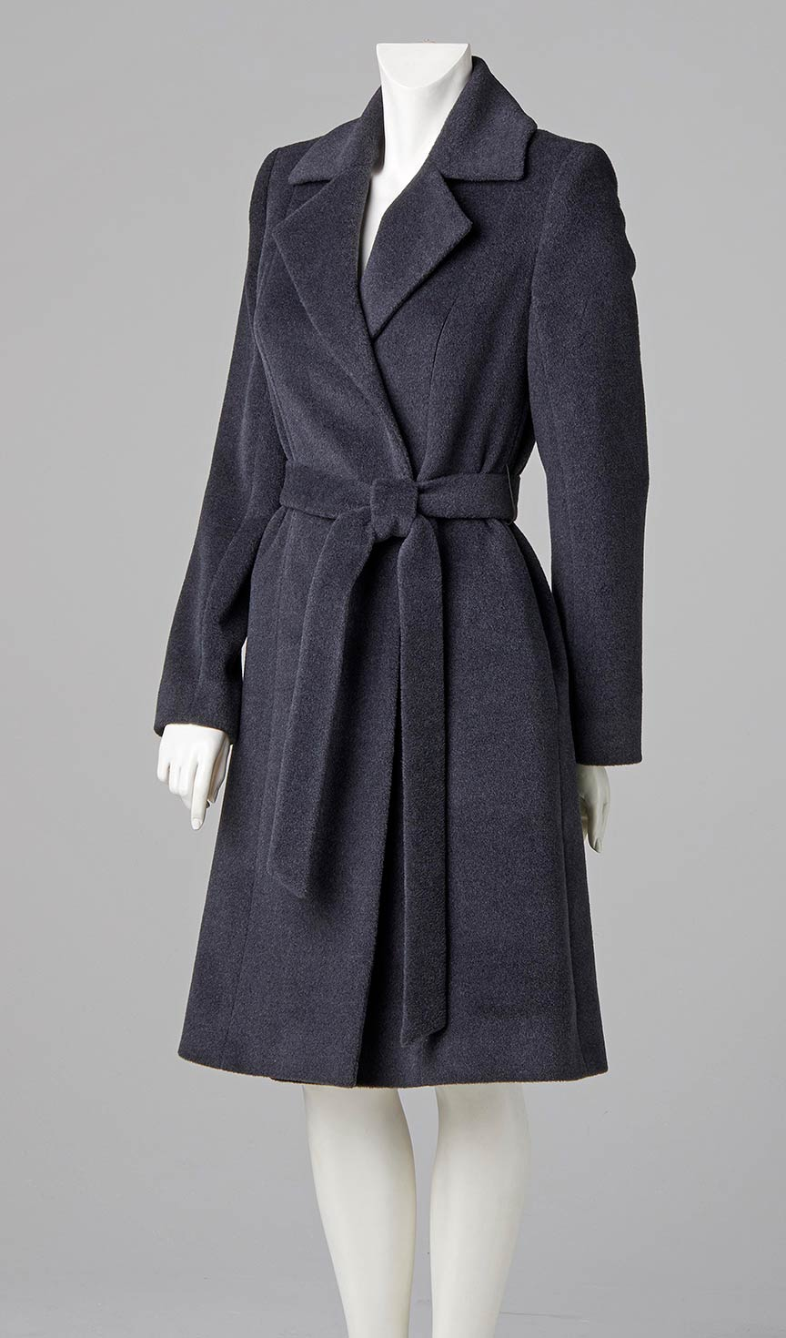 couture design designer wrapover belted coat south west london