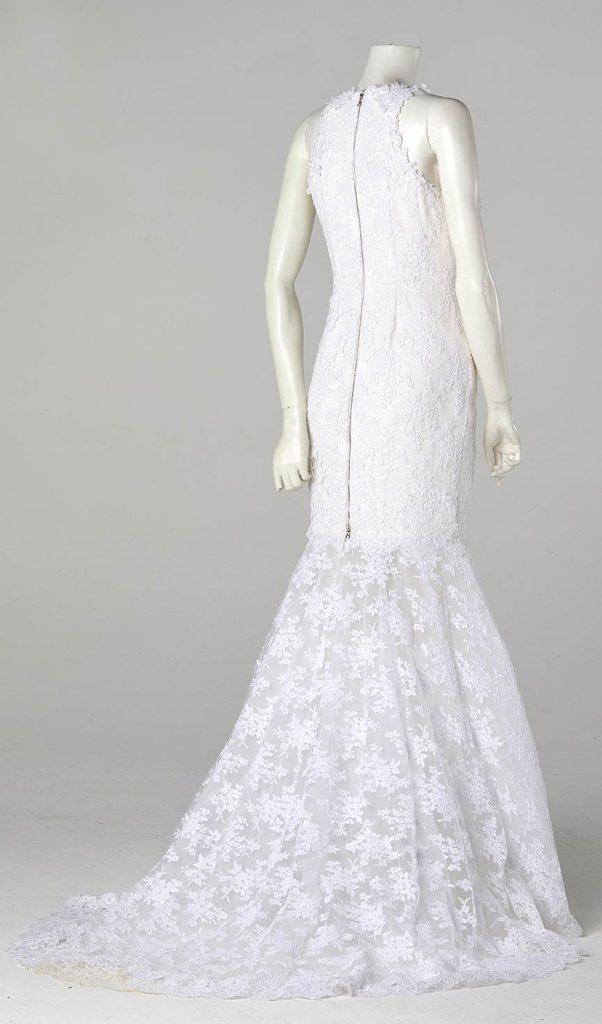 removable skirt short wedding dress lace and satin couture wedding dress designer london