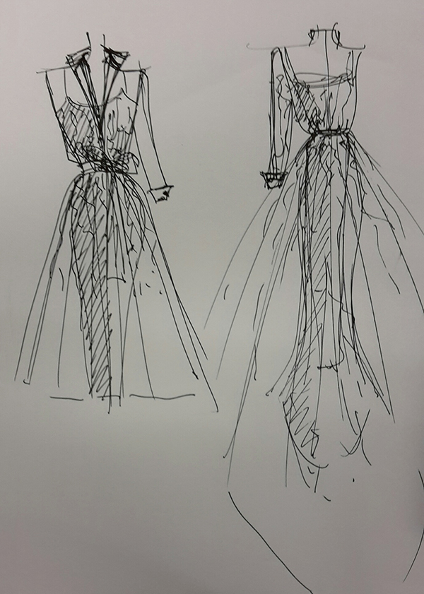 Allison Rodger BOM Dress Sketch