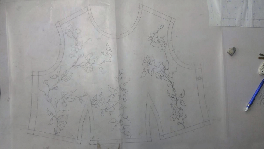 Dress sketch - Bodice