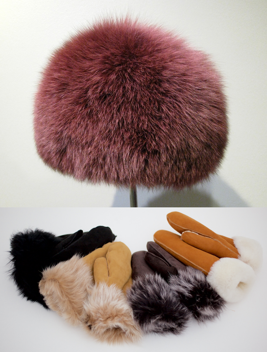 Sale Toscana Sheepskin mittens and hat