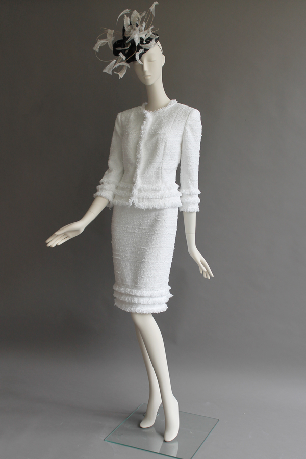 White French tweed skirt + Jkt. Hat by Siana Yewdall