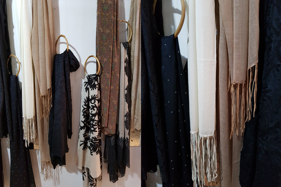 Swarovski Leather Fringes and Towel Embroidery
