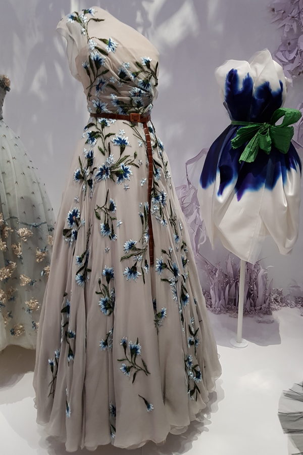 Dior - Stunning flower embroidery, and the 21st C belt.